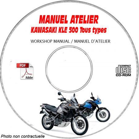 KLE 500 -06 Manuel Atelier CDROM KAWASAKI FR