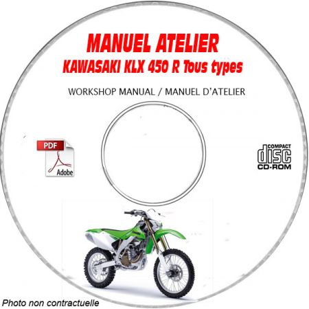 KLX 450R -07 Manuel Atelier CDROM KAWASAKI FR