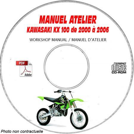 KX 100 00-06 Manuel Atelier CDROM KAWASAKI Anglais
