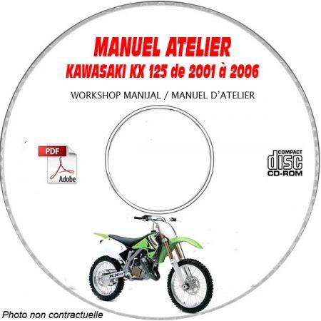KX 125 06 Manuel Atelier CDROM KAWASAKI FR