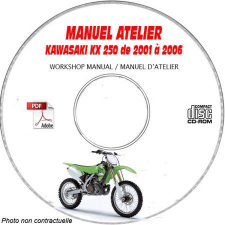 KX 250 06 Manuel Atelier CDROM KAWASAKI FR