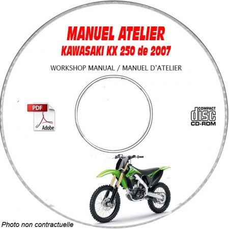 KX 250 -06 Manuel Atelier CDROM KAWASAKI FR