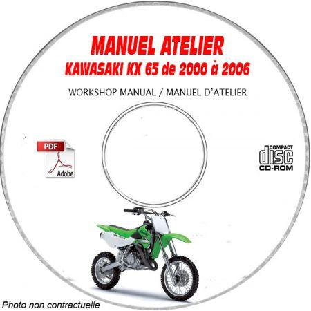 KX 65 00-06 Manuel Atelier CDROM KAWASAKI Anglais