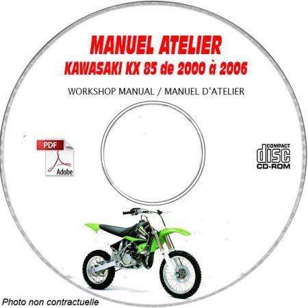 KX 85 00-06 Manuel Atelier CDROM KAWASAKI Anglais