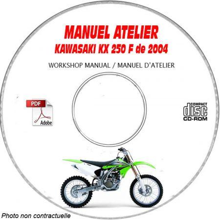 KX 250F 04 Manuel Atelier CDROM KAWASAKI Anglais
