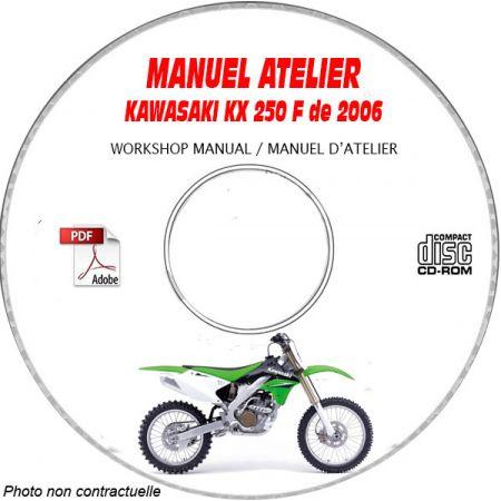 KX 250F 06 Manuel Atelier CDROM KAWASAKI FR