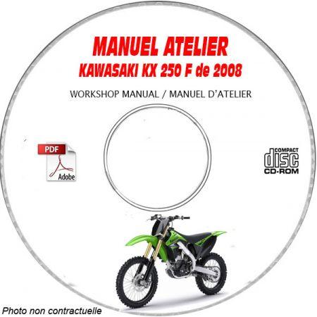 KX 250F 08 Manuel Atelier CDROM KAWASAKI FR