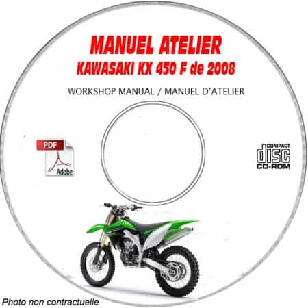 KX 450F 08 Manuel Atelier CDROM KAWASAKI FR