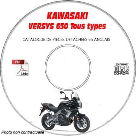 VERSYS 650 2010 Catalogue Pièces CDROM KAWASAKI Anglais