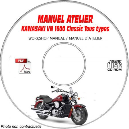 VN1600 CLASSIC -05 Manuel Atelier CDROM KAWASAKI FR
