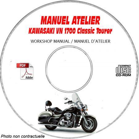 VN 1700 Classic Tourer 09-10 Manuel Atelier CDROM KAWASAKI Anglais