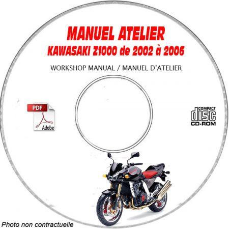 Z1000 02-06 Manuel Atelier CDROM KAWASAKI FR