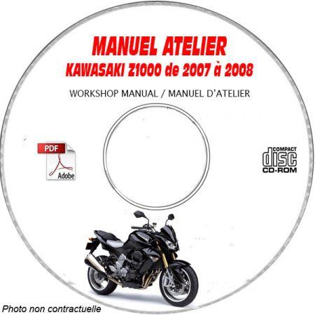 Z1000 07-08 Manuel Atelier CDROM KAWASAKI FR