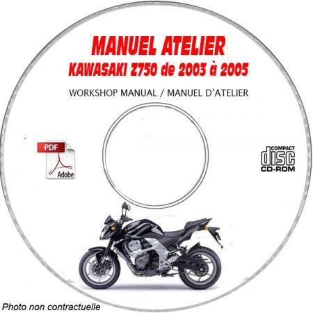 Z750 03-05 Manuel Atelier CDROM KAWASAKI FR