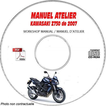 Z750 07 Manuel Atelier CDROM KAWASAKI FR