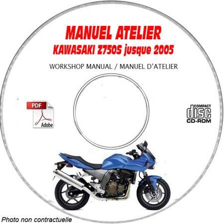 Z750S -05 Manuel Atelier CDROM KAWASAKI FR