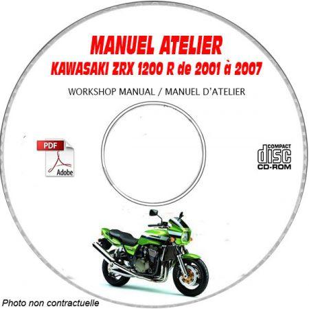 ZRX 1200R 01-07 Manuel Atelier CDROM KAWASAKI Anglais Revue technique