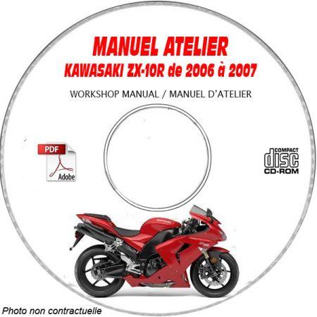 ZX 10R 06-07 Manuel Atelier CDROM KAWASAKI FR