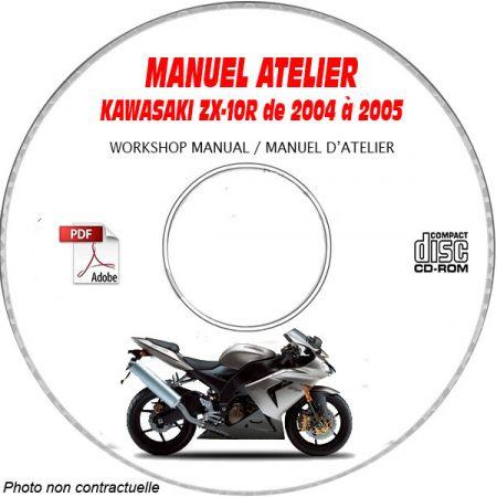 ZX 10R -04 Manuel Atelier CDROM KAWASAKI FR