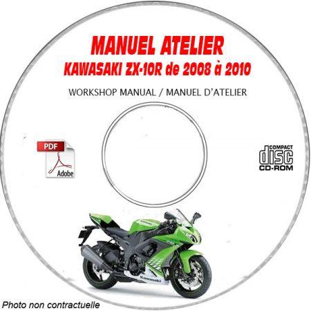 ZX 10R 2008 Manuel Atelier CDROM KAWASAKI Anglais