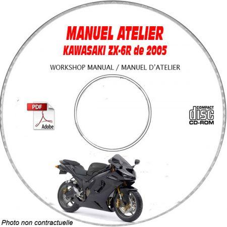 ZX 6R 2005 Manuel Atelier CDROM KAWASAKI Anglais
