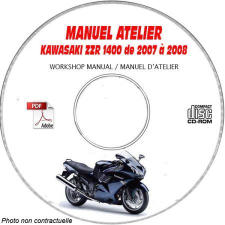 ZZR 1400 07-08 Manuel Atelier CDROM KAWASAKI FR