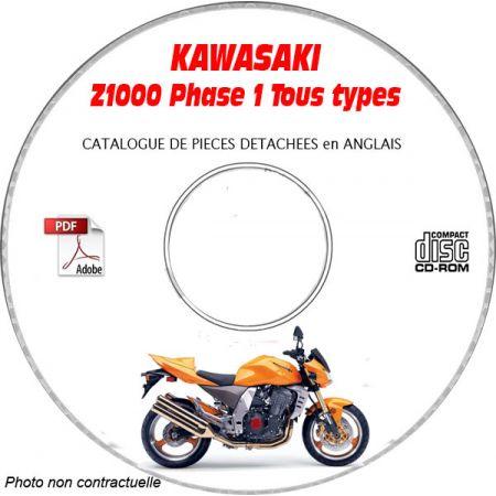 Z1000 Catalogue Pièces CDROM KAWASAKI Anglais