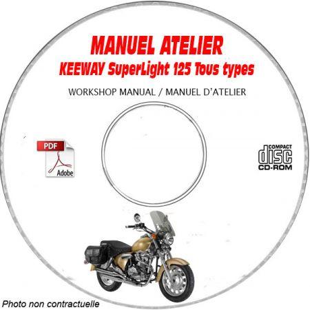 Superlight 125  - Manuel Atelier CDROM KEEWAY Anglais