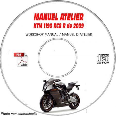 1190 RC8 R -09 Manuel Atelier CDROM KEEWAY Anglais