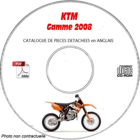 Gamme 08 Catalogue Pièces CDROM KTM Anglais