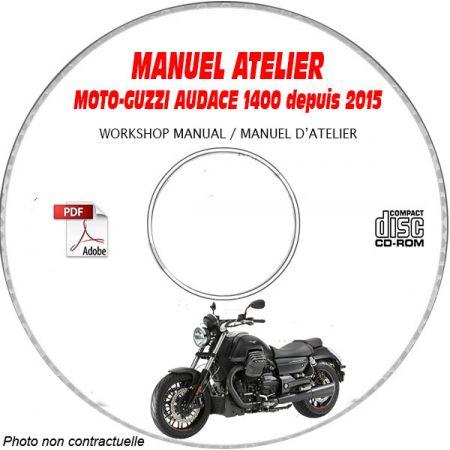 MOTOGUZZI AUDACE 1400 2015 Manuel Atelier CDROM Anglais