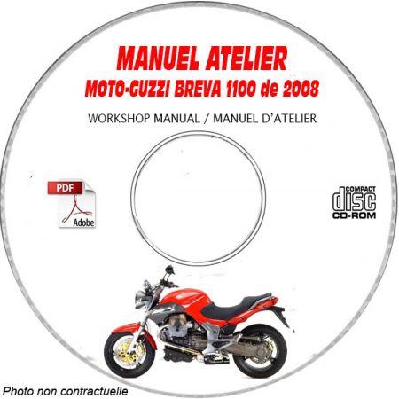 BREVA 1100 abs 08 Manuel Atelier CDROM MOTO-GUZZI