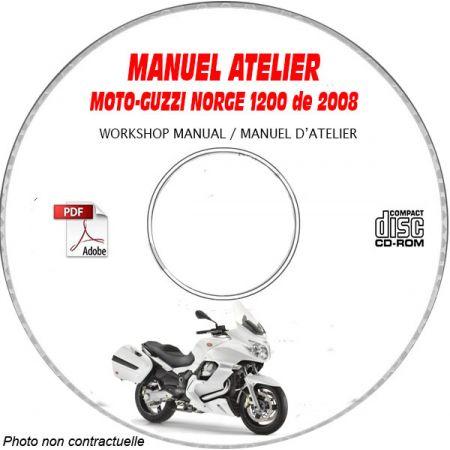 NORGE 1200 08 Manuel Atelier CDROM MOTOGUZZI Revue technique