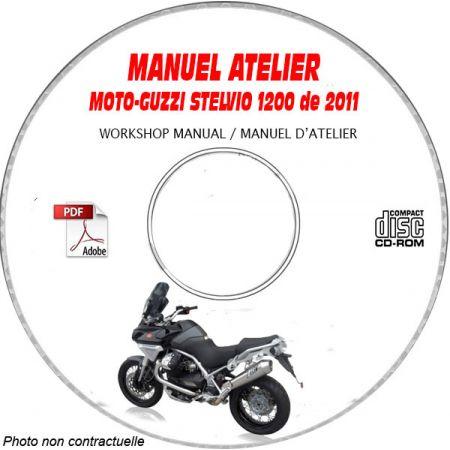 STELVIO 1200 8V NTX 11 Manuel Atelier CDROM MOTO-GUZZI