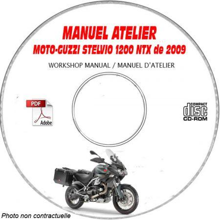 STELVIO 4V 1200 09 Manuel Atelier CDROM MOTO-GUZZI