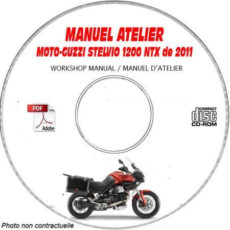 STELVIO 1200 NTX 2011 Manuel Atelier CDROM MOTO-GUZZI