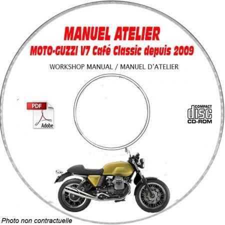 V7 CAFR CLASSIC 2009 Manuel Atelier MOTO-GUZZI CDROM