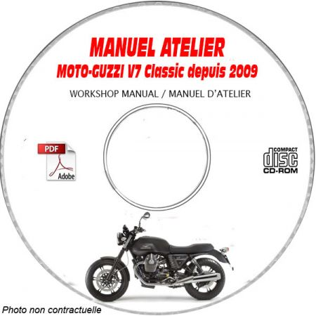 V7 CLASSIC 2009 Manuel Atelier MOTO-GUZZI CDROM