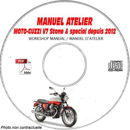 V7 STONE et SPECIAL 12-13 Manuel Atelier MOTO-GUZZI CDROM