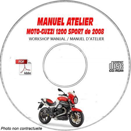1200 SPORT ABS 08 Manuel Atelier CDROM MOTOGUZZI