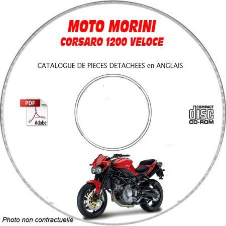CORSARO 1200 VELOCE -08 Catalogue Pièces CDROM MORINI Anglais