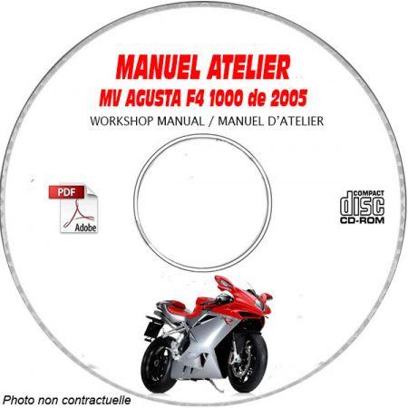 F4 1000 S + S1+1 + AGO + TAMBURINI 2005 Manuel Atelier CDROM MV AGUSTA Anglais