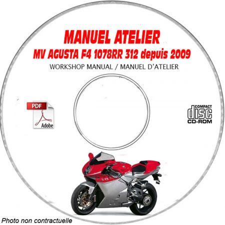 F4 1078 RR 312 + RR 1+1 312 2009 Manuel Atelier CDROM MV AGUSTA Anglais