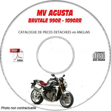 BRUTALE 990R + 1090 RR 2010 Catalogue Pièces CDROM MV AGUSTAFR
