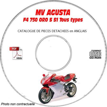 F4 750 ORO + S + S 1+1 Catalogue Pièces CDROM MV AGUSTA FR