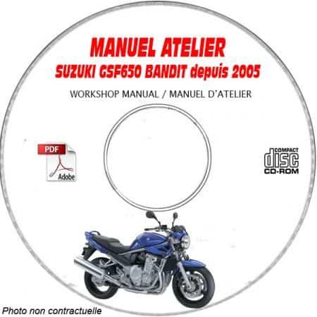 GSF 650 S 05-06 Manuel Atelier CDROM SUZUKI Anglais