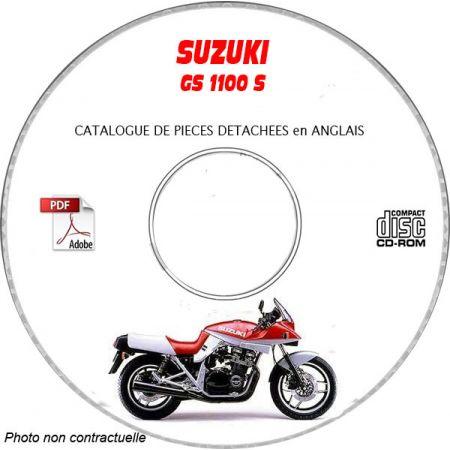 GS 1100S 83 Catalogue Pièces CDROM SUZUKI Anglais