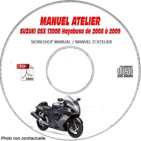 GSX 1300R HAYABUSA 08-09 Manuel Atelier CDROM SUZUKI Anglais