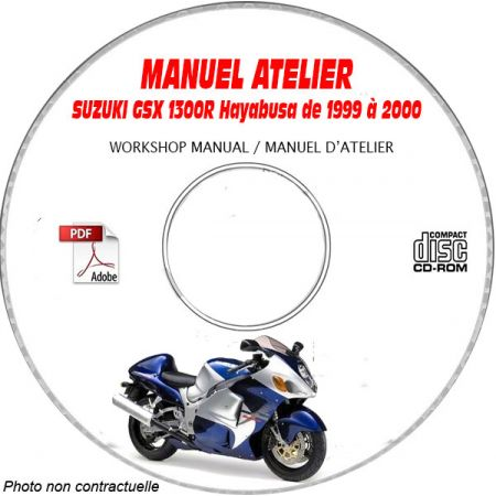 GSX 1300R HAYABUSA 99-02 Manuel Atelier CDROM SUZUKI Anglais