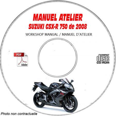 GSXR 750 2008 Manuel Atelier CDROM SUZUKI Anglais